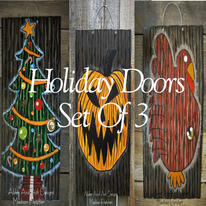 Nightmare Before Christmas Inspired Holiday Doors Set o
