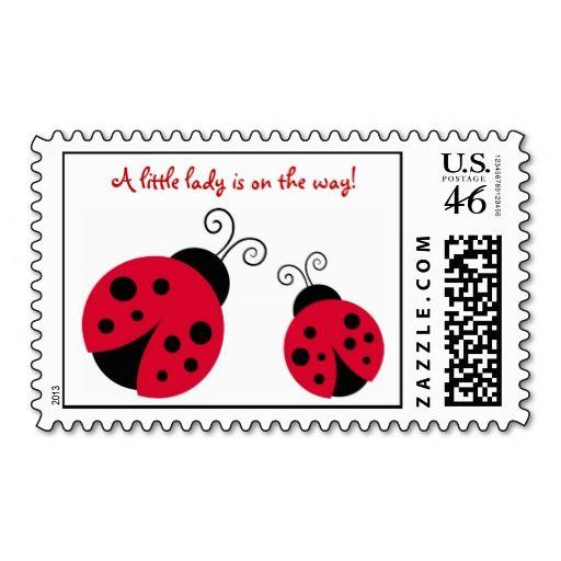 Little Ladybug Postage Stamp