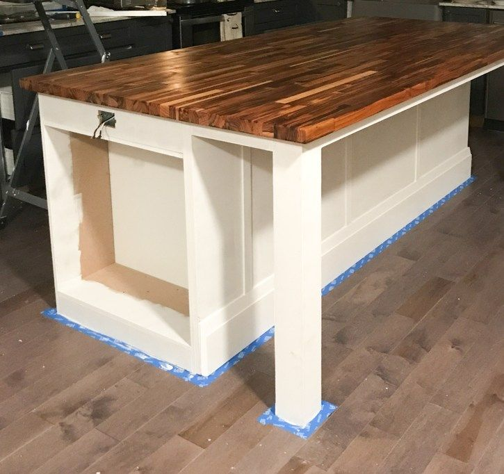 How to Build a DIY Kitchen Island #islandkitchenideas