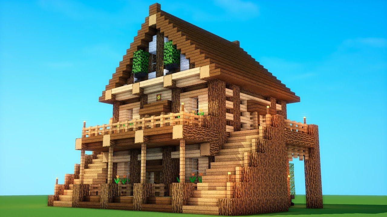 Epic Survival How To Build A Survival House Minecraft Mansion Minecraft Mansion Minecraft Buildings Minecraft Survival