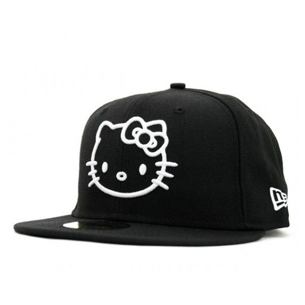 175611370c9 Hello Kitty x New Era 59FIFTY Caps ❤ liked on Polyvore featuring accessories