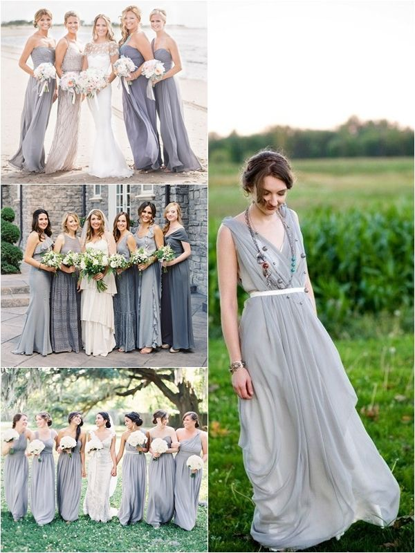 Wedding Philippines Top 10 Most Flattering Bridesmaids Dress Colors 03 Gray Grey Elegant
