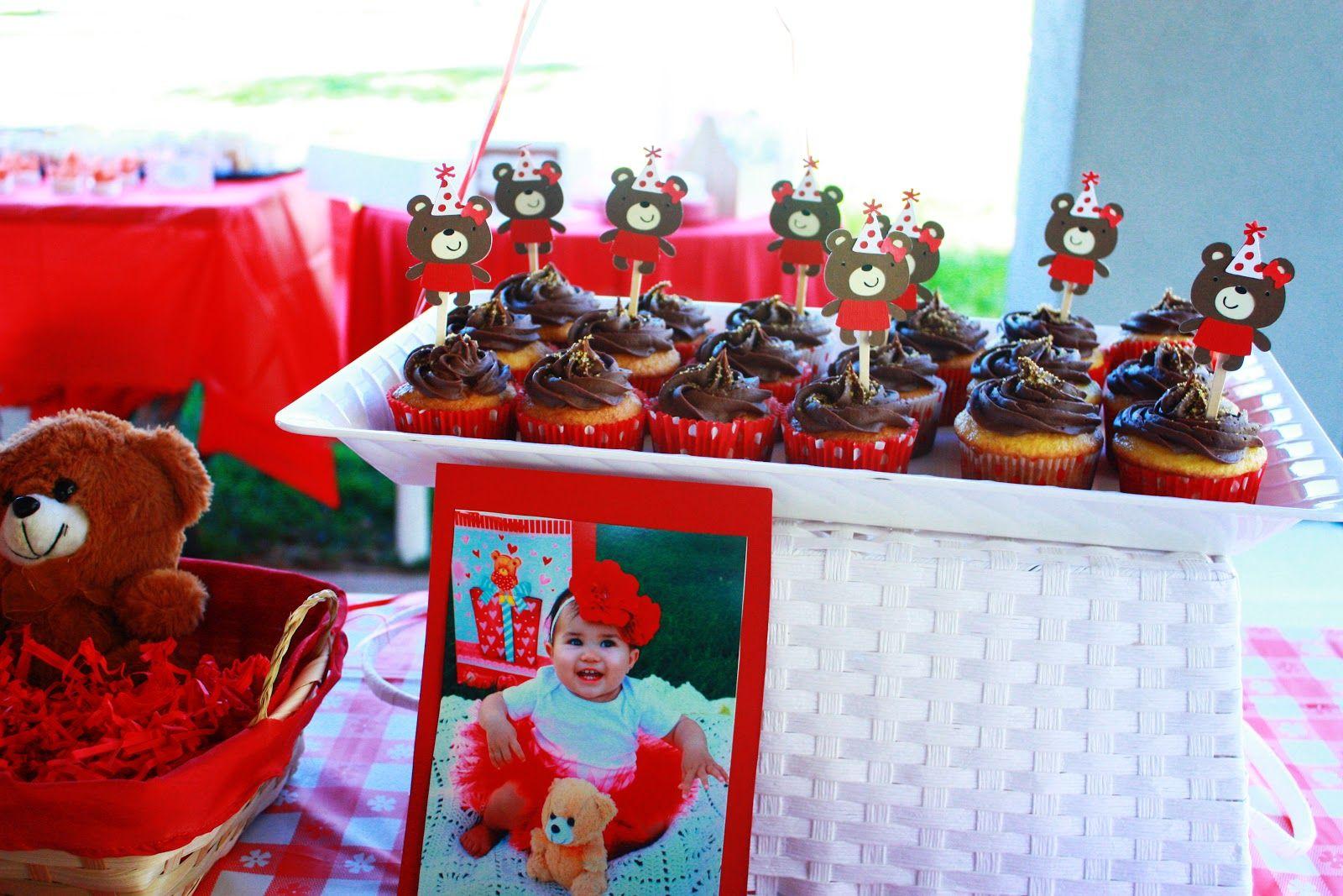 souvenir cupcakes con oso
