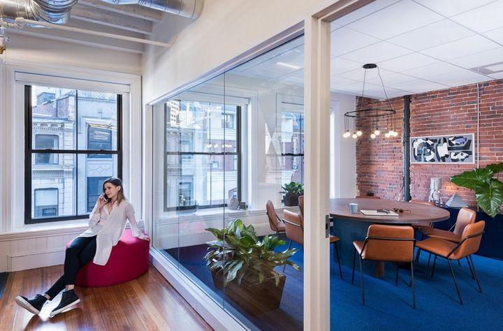 metromile office by studio becky carter boston massachusetts