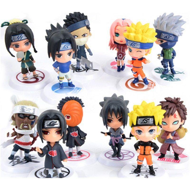 Naruto Action Figure Toys 12 Styles Q Style Zabuza Haku Kakashi