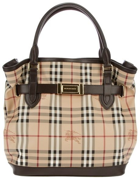 BURBERRY LONDON Checked Tote