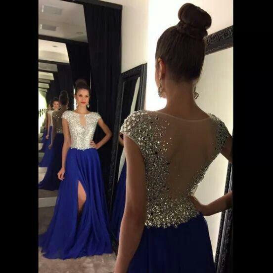 Vestido Azul Rey Vestidos De Baile Largos Vestidos De