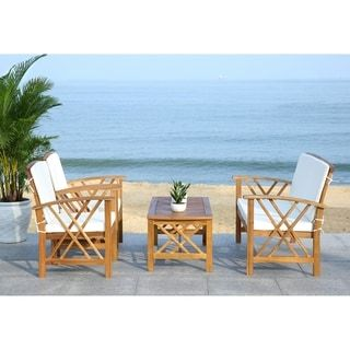 Safavieh Outdoor Living Fontana 4 Pc Outdoor Set | Outdoor ... on Safavieh Outdoor Living Fontana id=31822