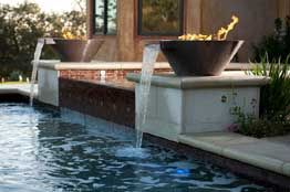 Rectangle Pool With Water Feature pool water feature | we offer a variety of services | for the home