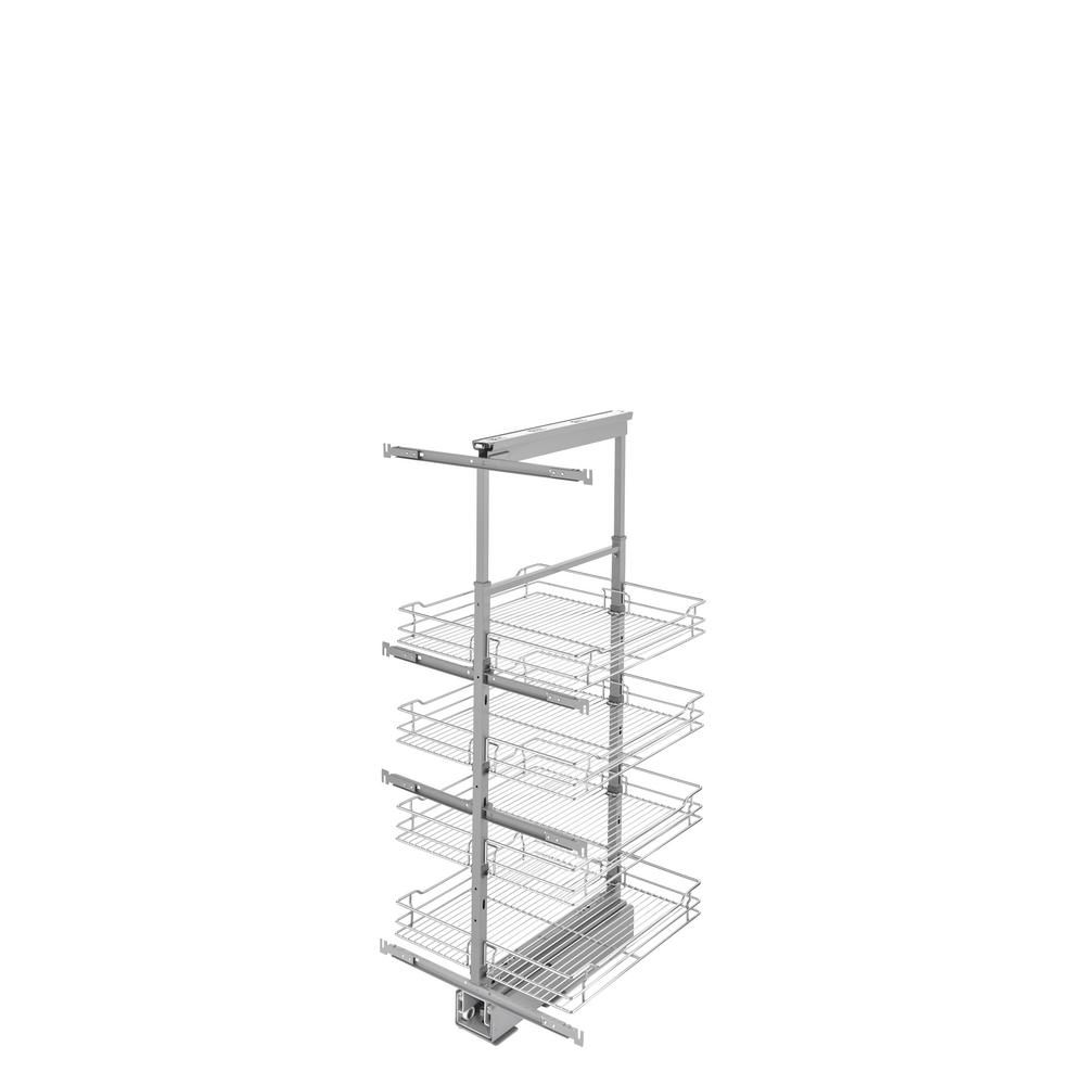 Rev-A-Shelf 20 in. Chrome 4-Basket Pull-Out Pantry with Soft-Close Slides-5743-20-CR-1 - The Home Depot