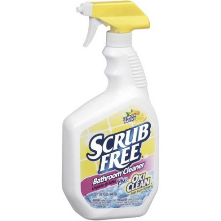 Scrub Free Soap Scum Remover Lemon 32 Fl Oz Walmart Com Bathroom Cleaner Cleaning Hard Water Stain Remover