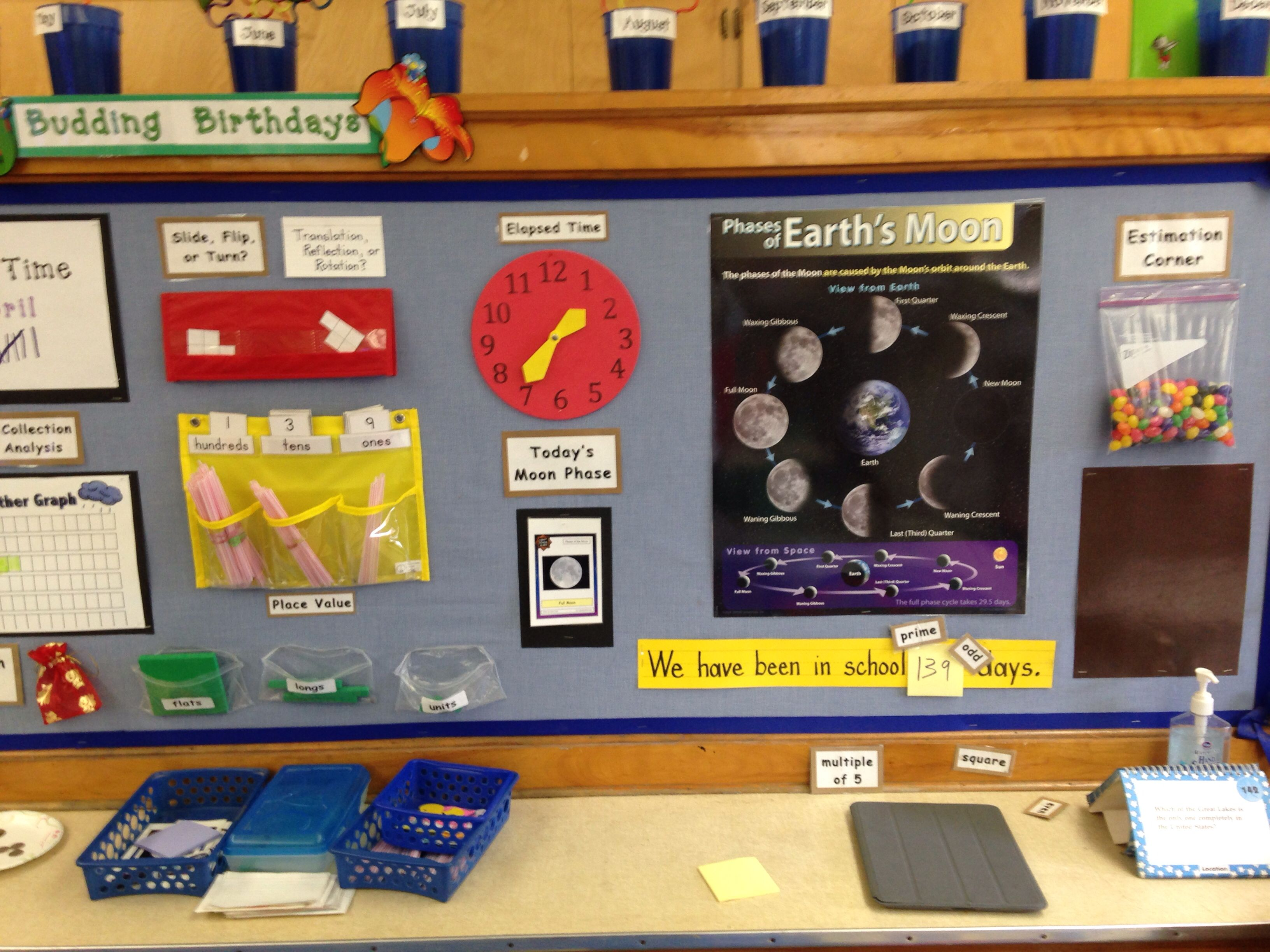 2nd Grade Calendar Board Like The Moon Phases And Current