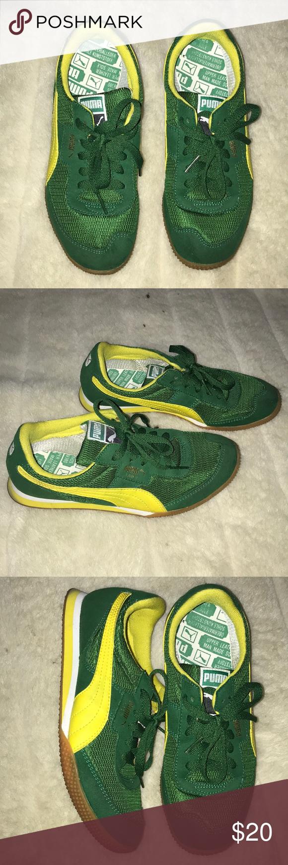 official photos 140d0 8061f Puma Green/Yellow Tennis Shoes Puma green & yellow tennis ...