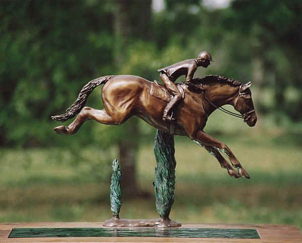 Watersail, a beautiful bronze horse sculpture by Clare Christie. Need to save my pennies for this one!