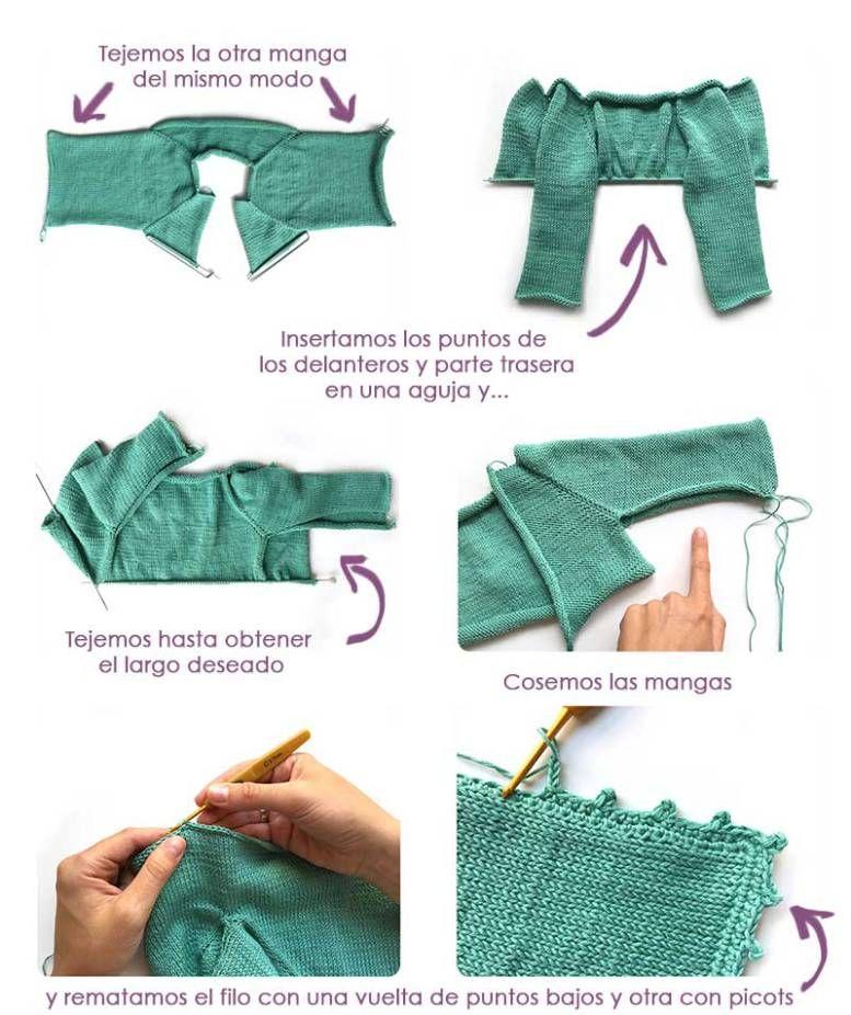 Cómo Tejer una Rebeca de Bebé de Punto a Dos Agujas   Crochet