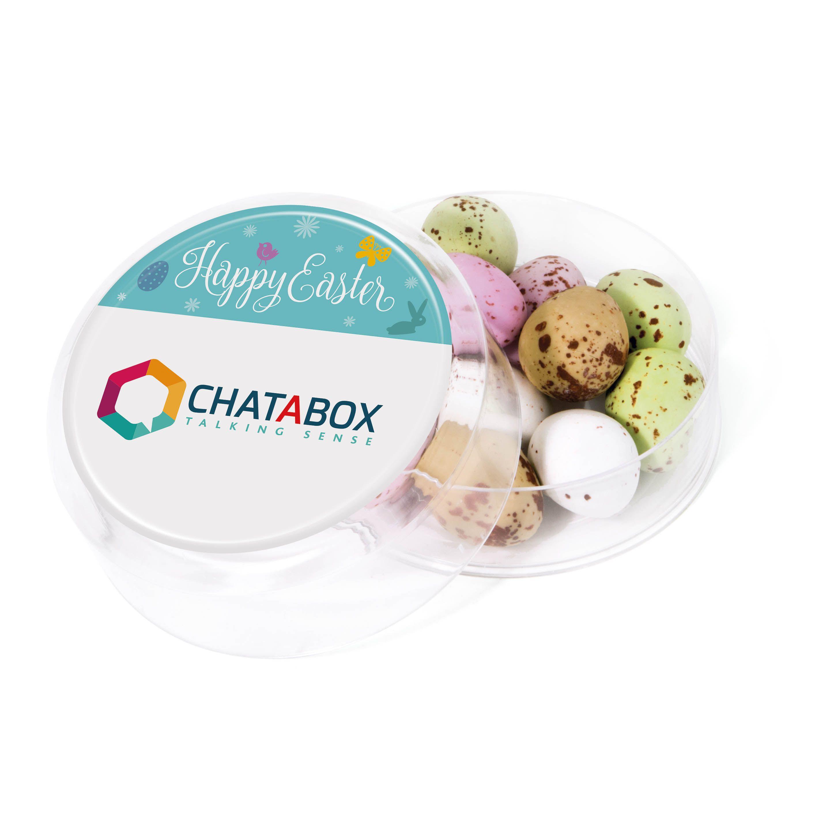 Promotional maxi round pots speckled chocolate eggs brand with promotional maxi round pots speckled chocolate eggs brand with your logo from redbows negle Image collections