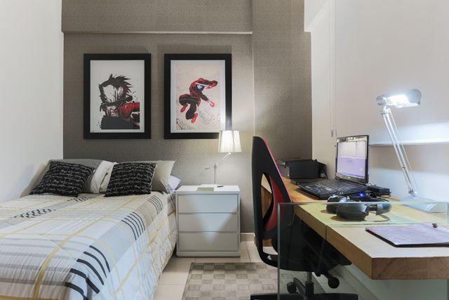 Quarto de solteiro quarto renato Pinterest Quarto de  ~ Quarto Planejado Homem Solteiro