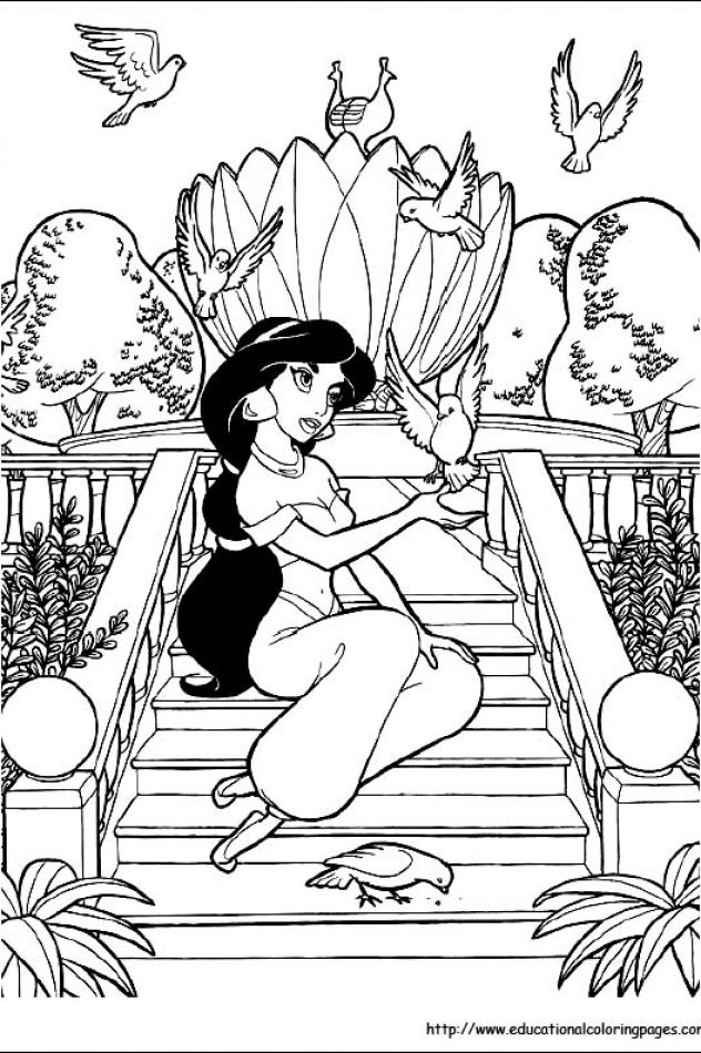 Jasmin Princess Coloring Pages Free For Kids Princess Coloring Pages Disney Princess Coloring Pages Disney Coloring Pages