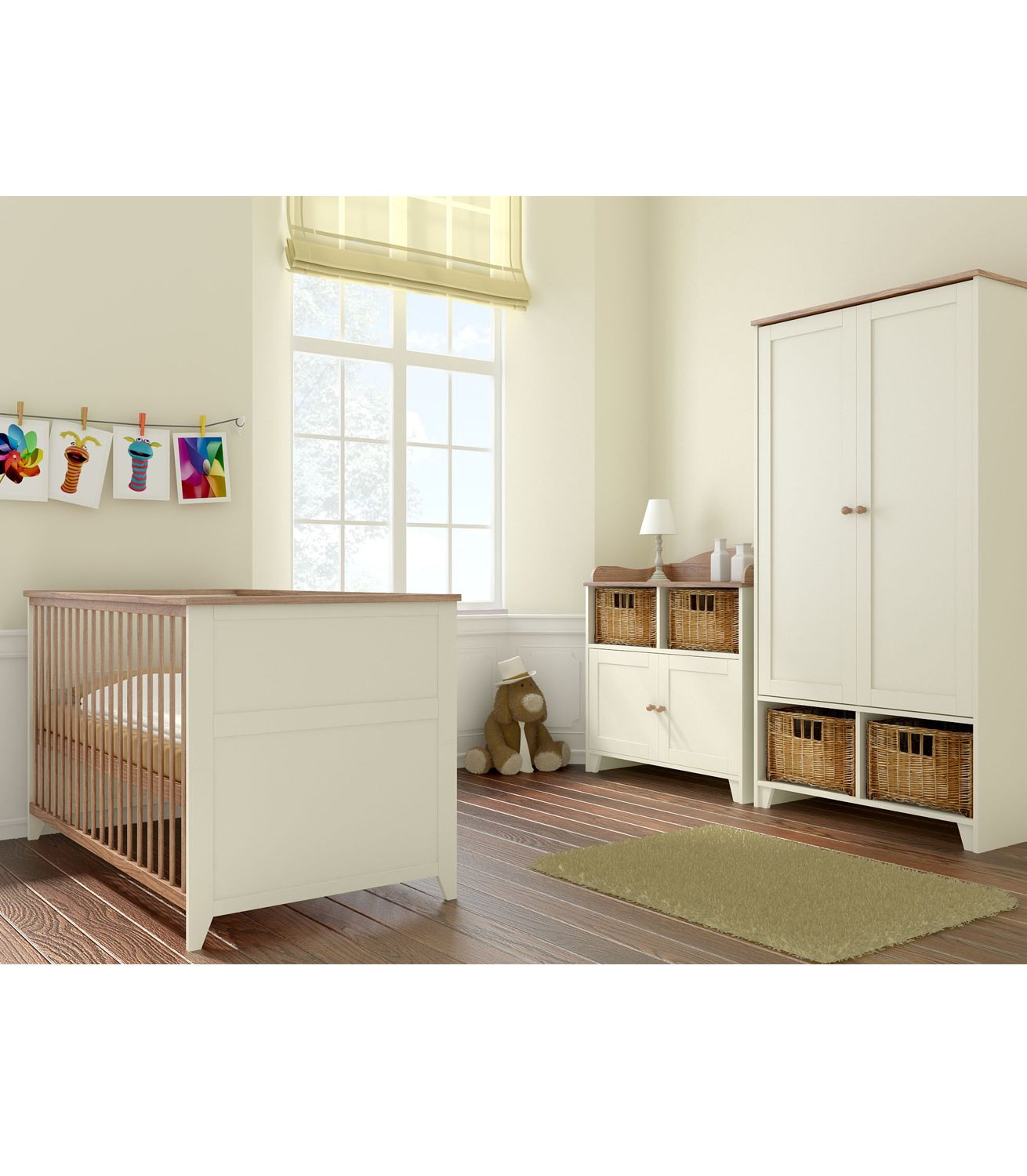 Buy Your Little Acorns Vanilla Roomset Cotbed Chest Wardrobe From Kiddicare Nursery Furniture Online B Nursery Furniture Sets Furniture Nursery Furniture
