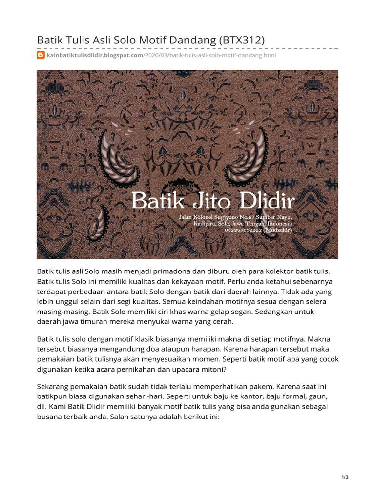 Batik Motif Solo Gambar Batik Segi Banyak - Batik Indonesia