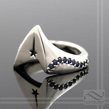 Custom Made Captains Star Fleet Signet Ring - Star Trek