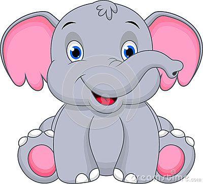 Cute baby elephant cartoon by Muhammad Desta Laksana, via ...