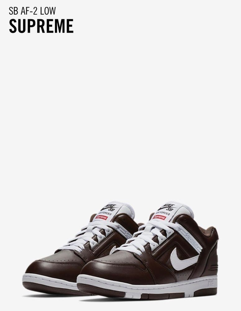 NIKE SUPREME SB AF-2 Air Force 2 Low Black White #Nike #BasketballShoes