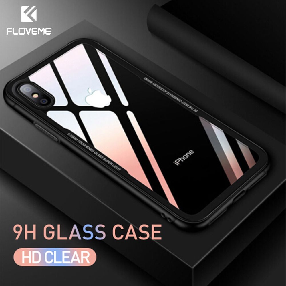 Floveme Caja De Telefono De Vidrio Templado Para El Iphone X 10 0