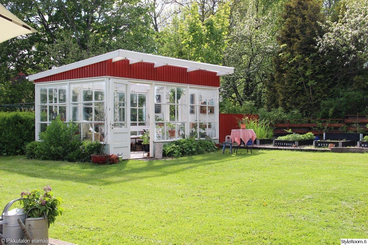 Kesahuone Kasvihuone Piha Outdoor Outdoor Structures Summer Cottage