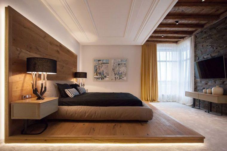 déco en bois chambre-lit-estrade-tete-delit-bois | Deco ...
