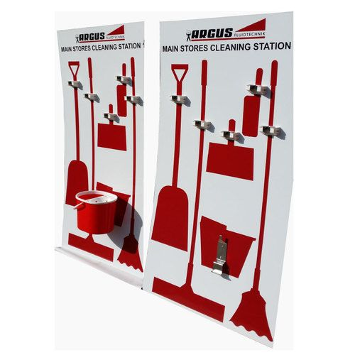 Wall Mounted Cleaning Station: 5S Tool, Shadowboard