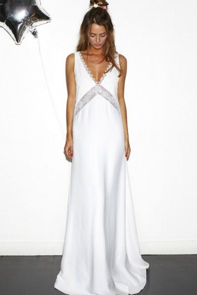 Comfortable Satin Straps Lace A-line Sweep/Brush Train Sleeveless Wedding Dresses