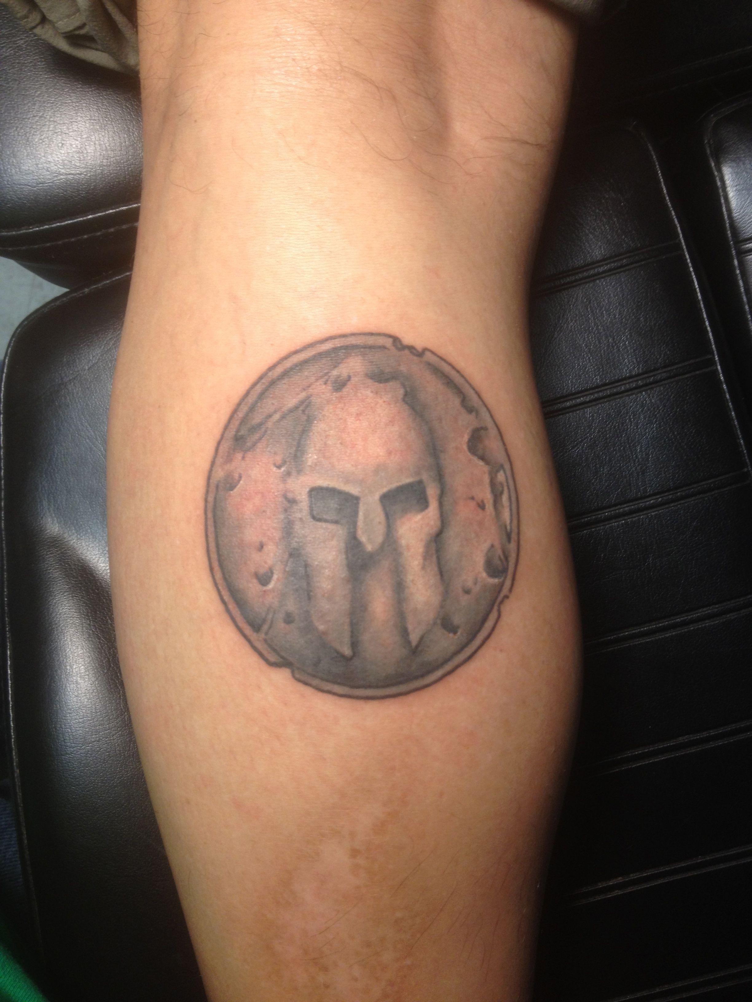 Pin By Kc Haller On Tattoo Ideas Spartan Tattoo Tattoos Shield
