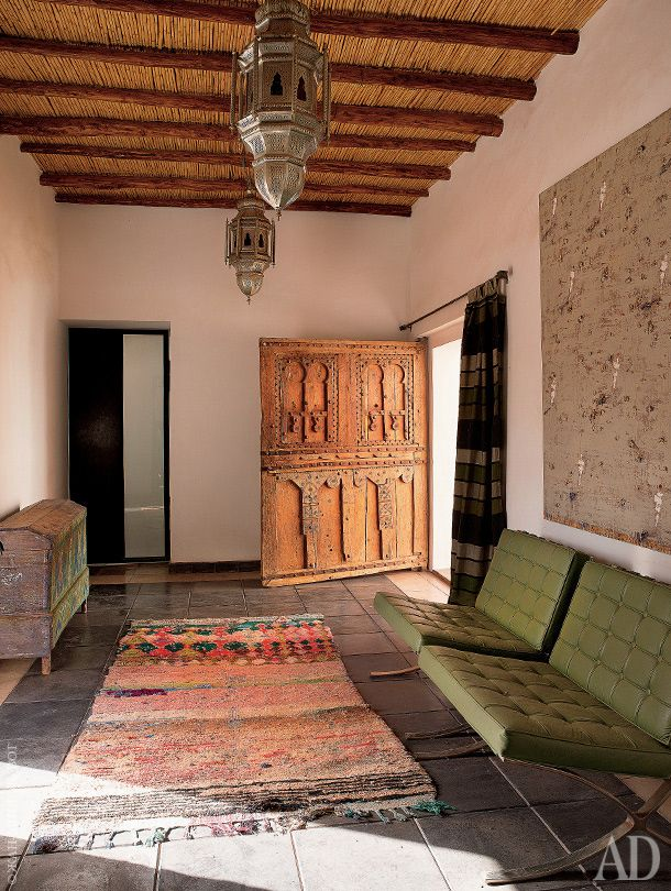 Moorish & modern mix. House in Marrakech. Architectural Digest