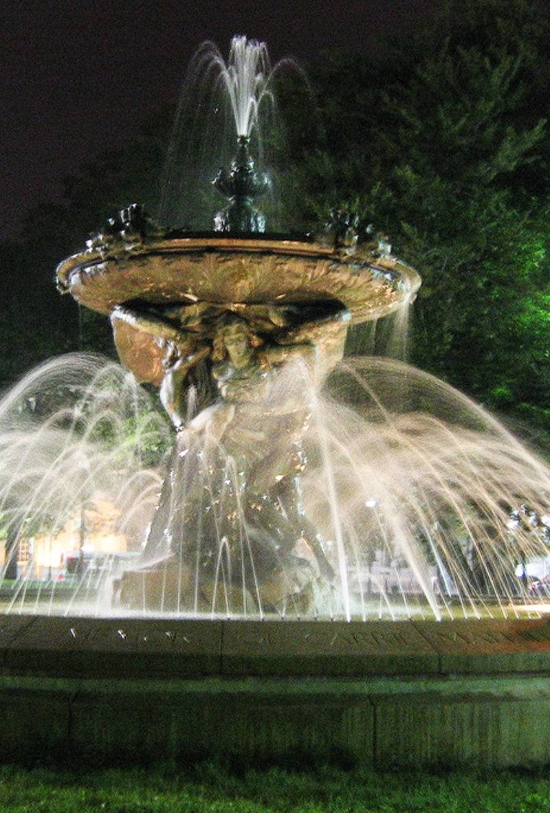 Angel Fountain of Providence RI. Beautiful fountain next to Kennedy Plaza