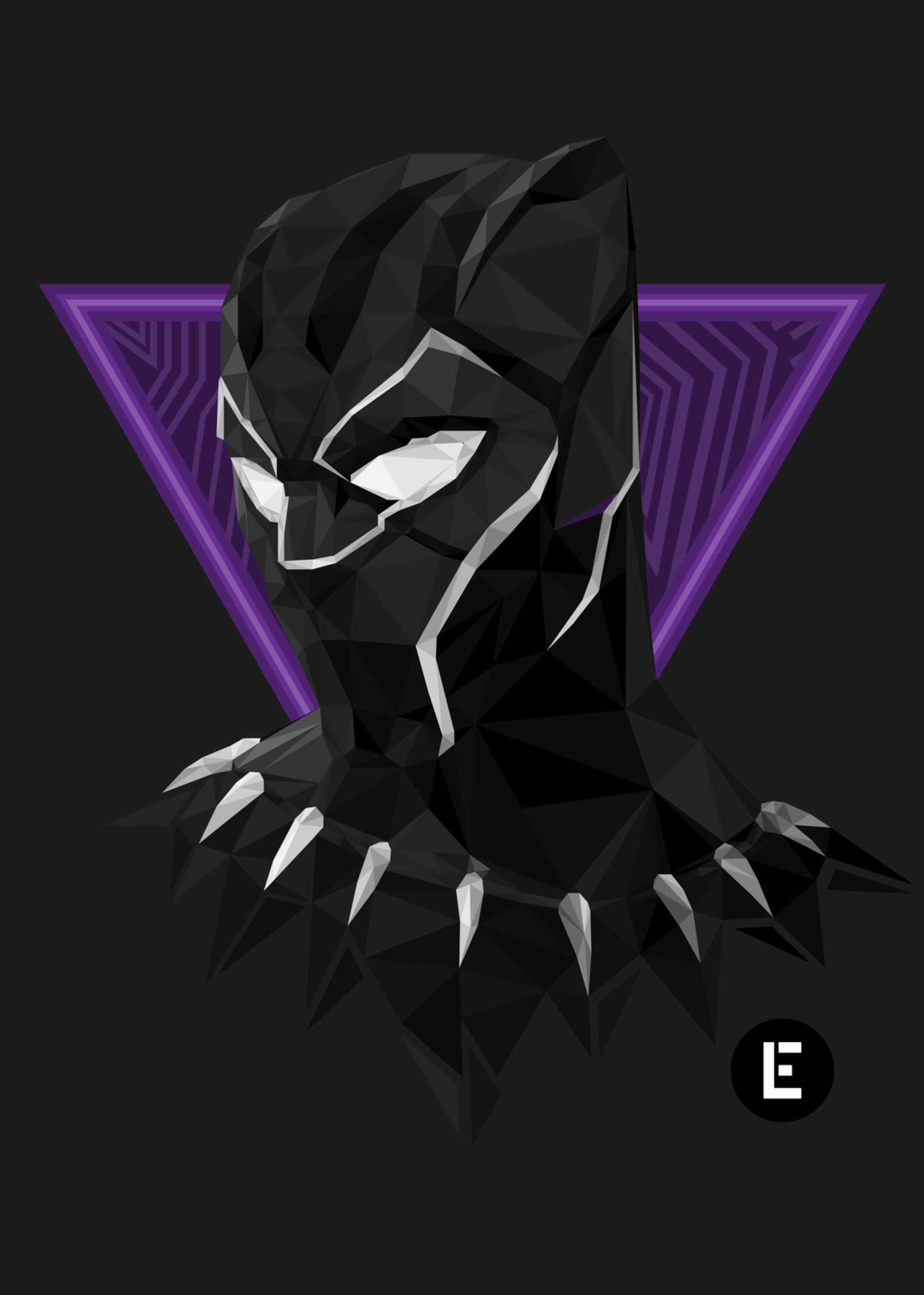 Geometric Black Panther By Thelivingethan On Deviantart Black