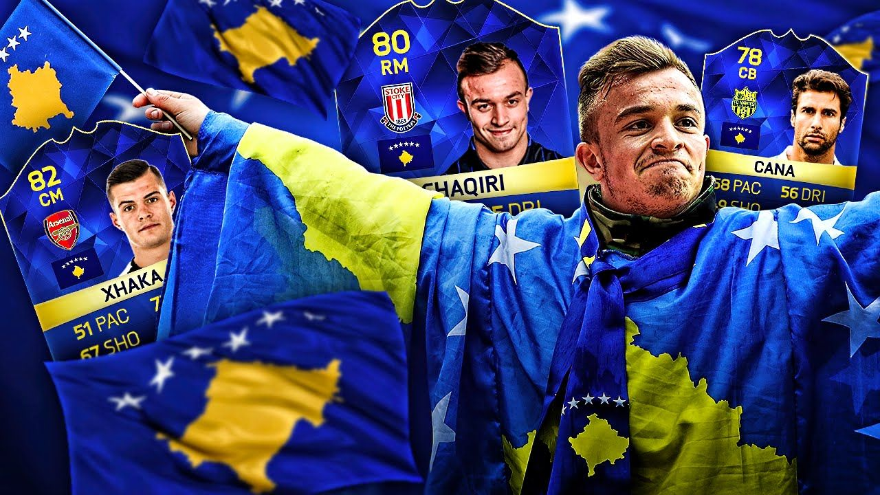 Omg Captain Kosovo Xherdan Shaqiri And The Ultimate Kosovo Legends Dream Team Fifa 16 Ultimate Team Youtube Fifa 16 Dream Team Fifa