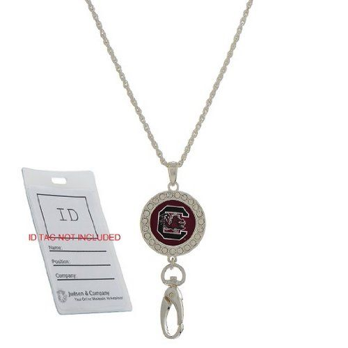 NCAA South Carolina Fighting Gamecocks Chain Necklace Style ID Holder with a Pull Clasp Closure Judson http://www.amazon.com/dp/B00JK6S4EE/ref=cm_sw_r_pi_dp_6KM4tb00EQDJX