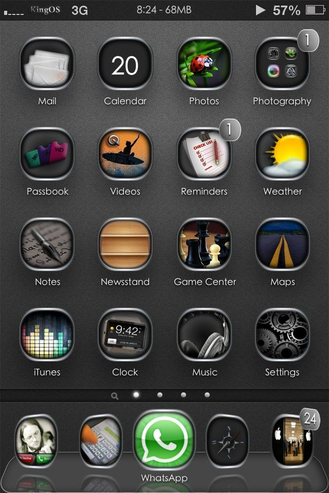 1KingOS HD iPhone 5 themeTechnologyiPhone Theme,iPhone