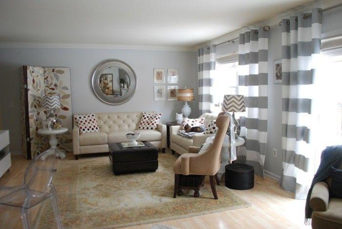 wohnzimmer grau in 55 beispielen erfahren wie das geht pinterest hellgraue w nde beige. Black Bedroom Furniture Sets. Home Design Ideas