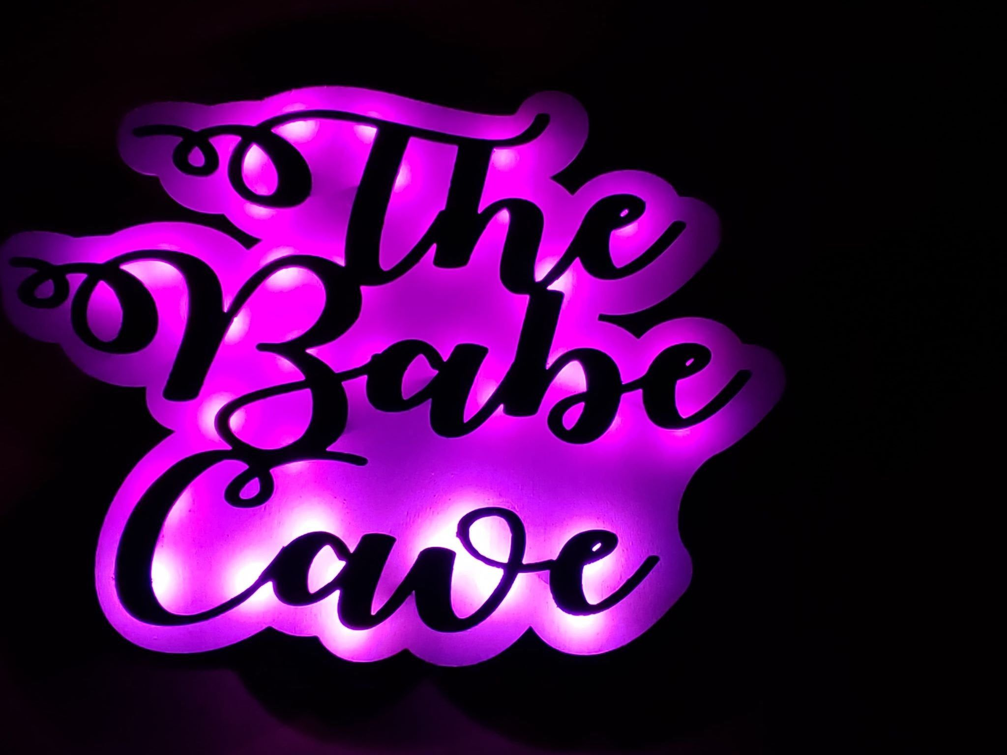 Photo of Personalized Babe Cave Women Cave LED Lighted Sign, Women Wall Art decor, Gift for her