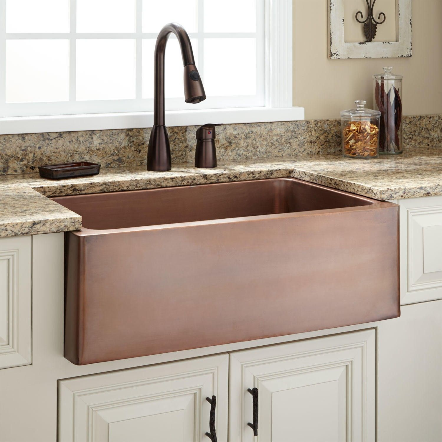 "30"" Kembla Copper Farmhouse Sink For the Farm Pinterest"