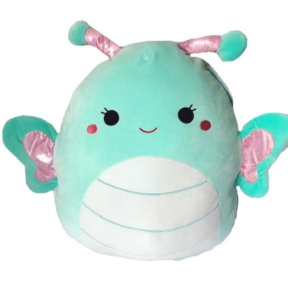 Kellytoy Other Squishmallow Large Blue Butterfly Plush Pillow Poshmark Elephant Plush Plush Pillows Blue Butterfly
