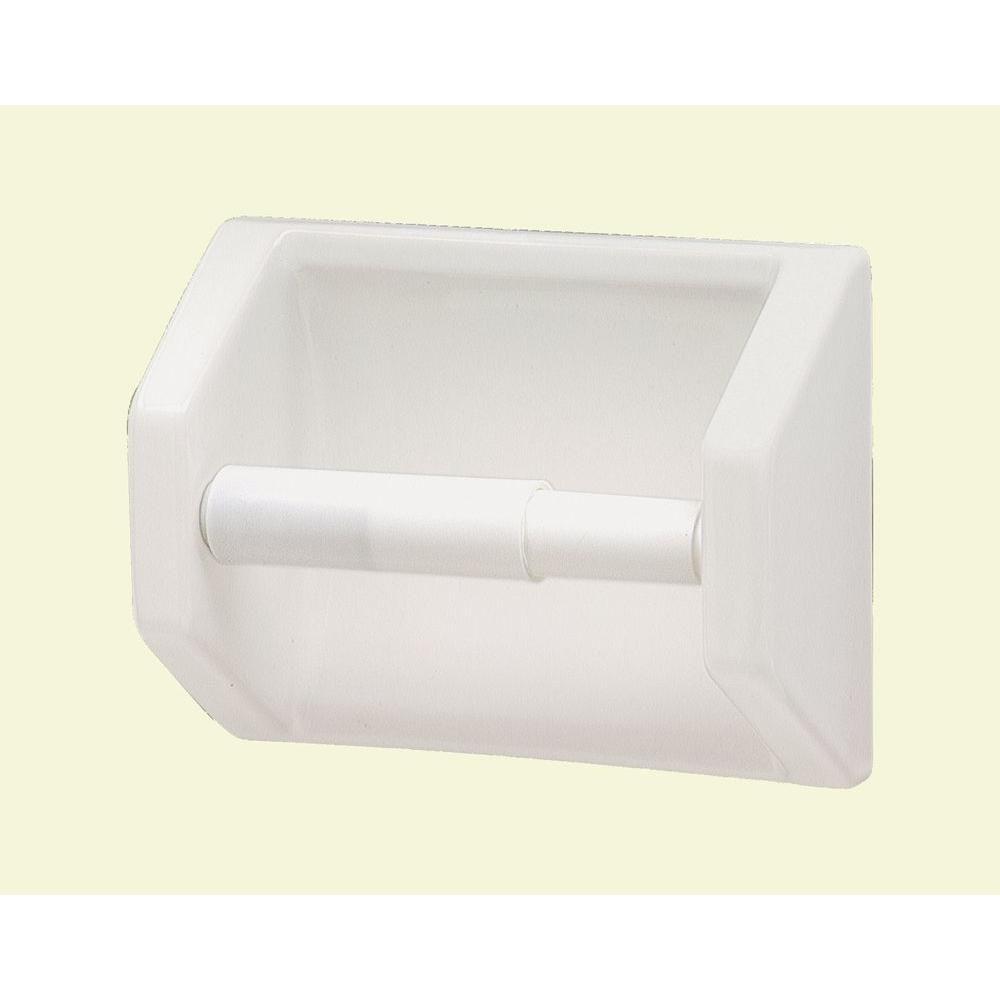 Lenape Toilet Paper Holder In White 177201 The Home Depot Recessed Toilet Paper Holder Toilet Paper Holder Toilet Paper