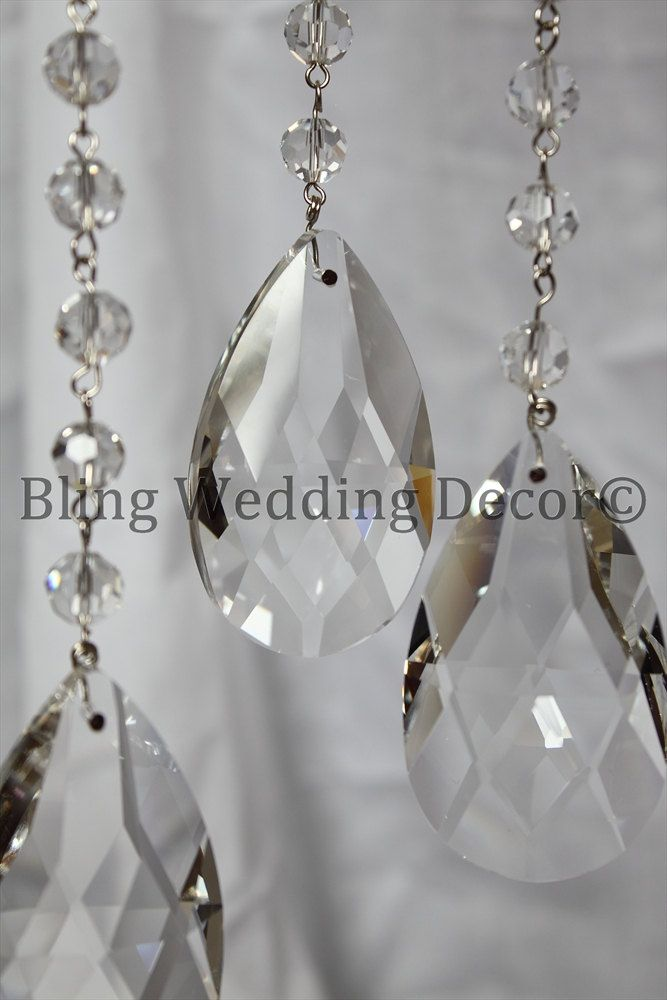 Your Fairy Tale Wedding Can Become A Budgetfriendly Reality When Decorating With Images Hanging Crystals
