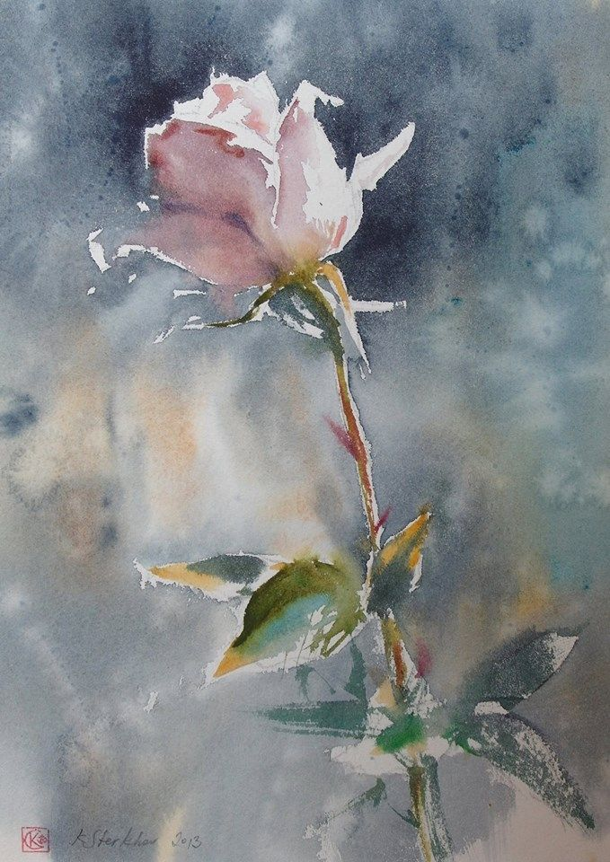Konstantin Sterkhov Flower Painting Watercolor Art Floral