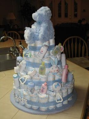baby boy diaper cakes | Personalized Baby Boy Cake | baby ...