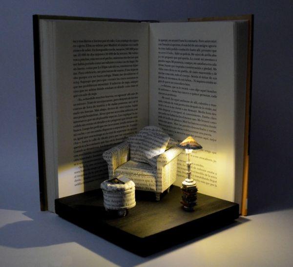 Moderne Skulpturen - faszinierende Welten aus Büchern Kramkiste - moderne skulpturen wohnzimmer