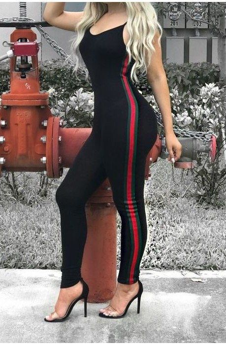 0494107256e Part of our  Everythings Gucci  collection Black Jumpsuit Gucci Inspired
