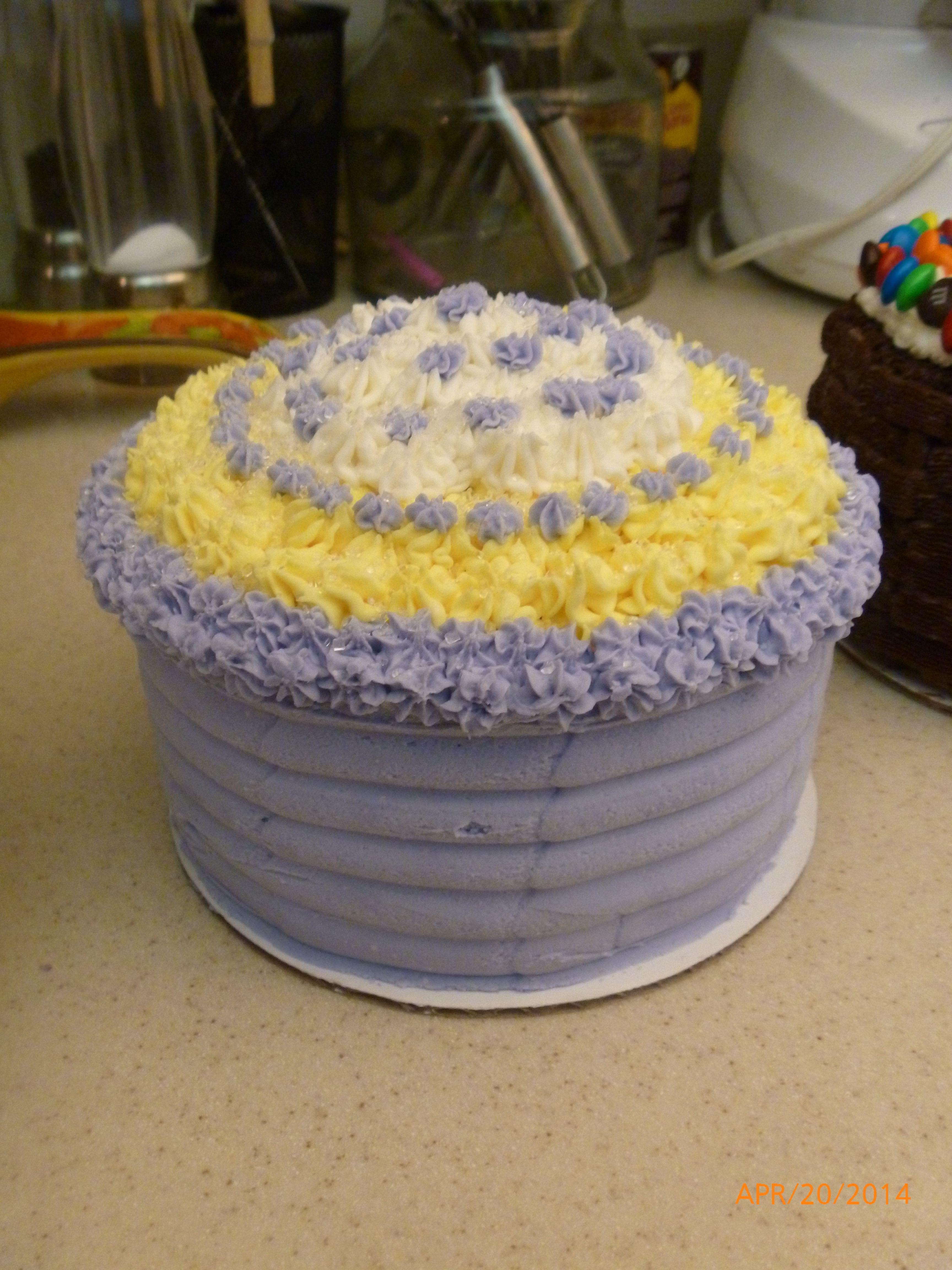 6 2 Layer Mini Easter Cake Tangerine Cake Buttercream Froting